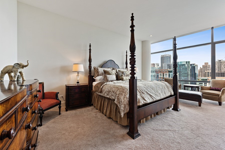 Real Estate Photography - 450 E. Waterside, Apt. 3001, Chicago, IL, 60601 - Master Bedroom