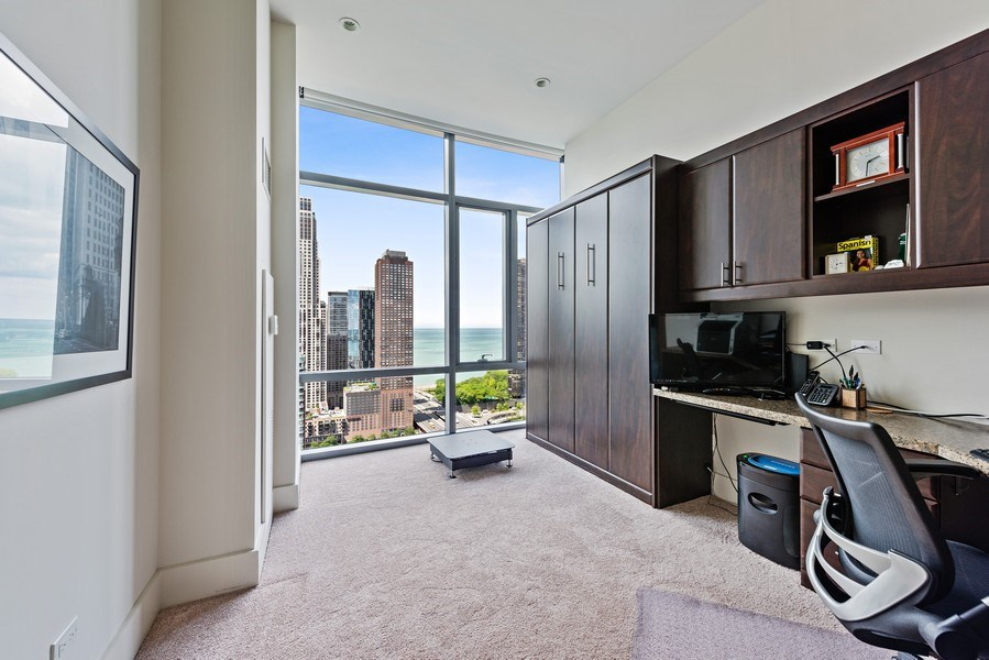 Real Estate Photography - 450 E. Waterside, Apt. 3001, Chicago, IL, 60601 - 3rd Bedroom