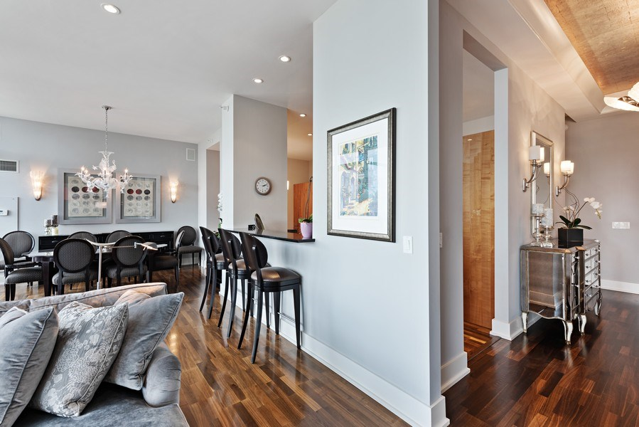 Real Estate Photography - 450 E. Waterside, Apt. 3001, Chicago, IL, 60601 - Living Area/Entry Foyer