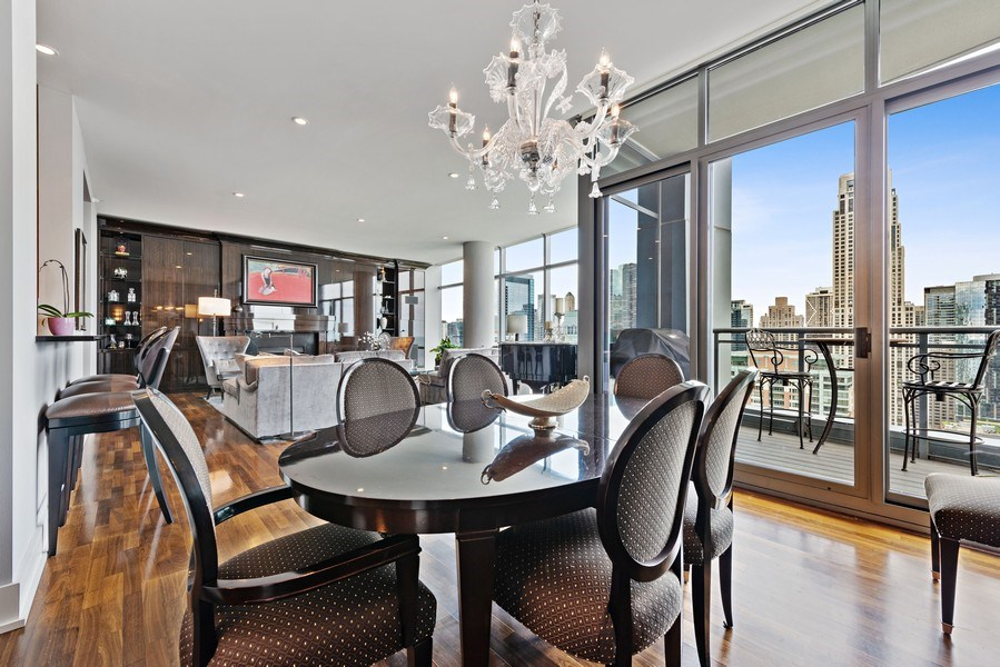 Real Estate Photography - 450 E. Waterside, Apt. 3001, Chicago, IL, 60601 - Dining Room