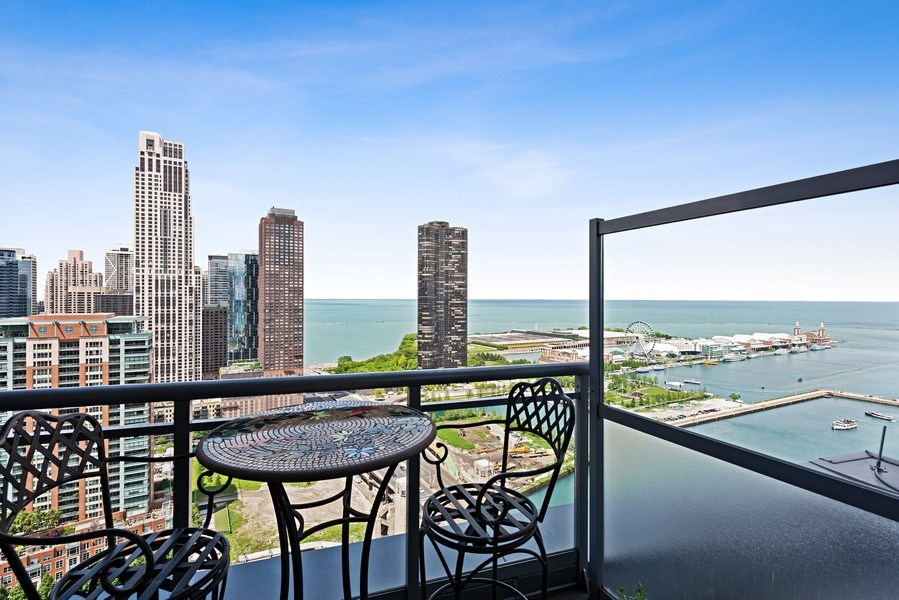 Real Estate Photography - 450 E. Waterside, Apt. 3001, Chicago, IL, 60601 - Balcony
