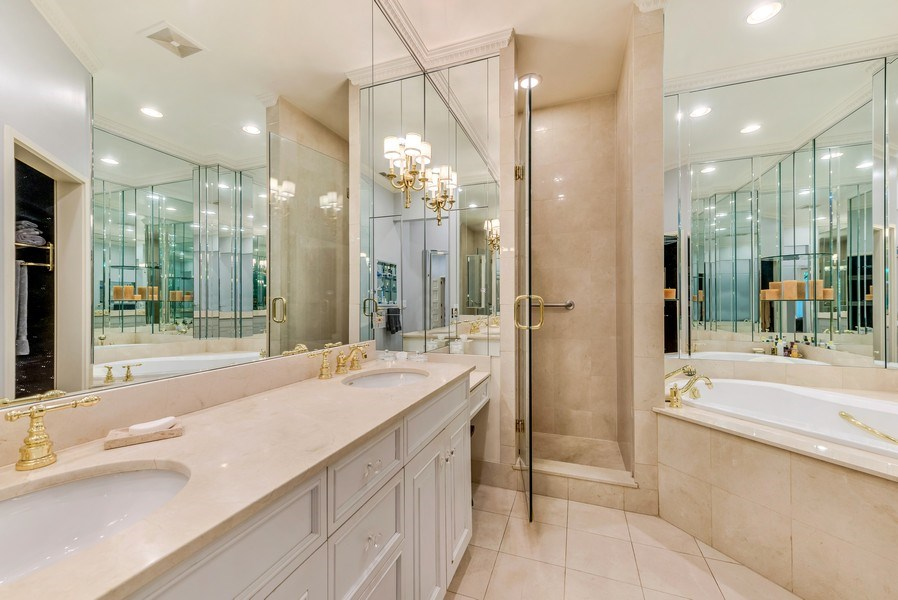 Real Estate Photography - 45 E. Cedar, Suite 2, Chicago, IL, 60610 - Master Bathroom