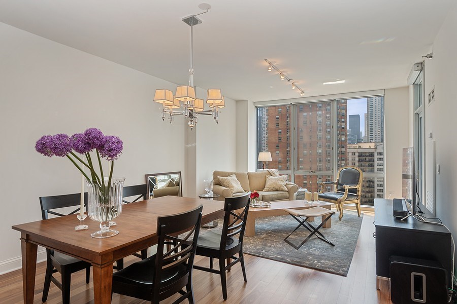 Real Estate Photography - 2 W. Delaware 1504, Chicago, IL, 60610 - Living Room