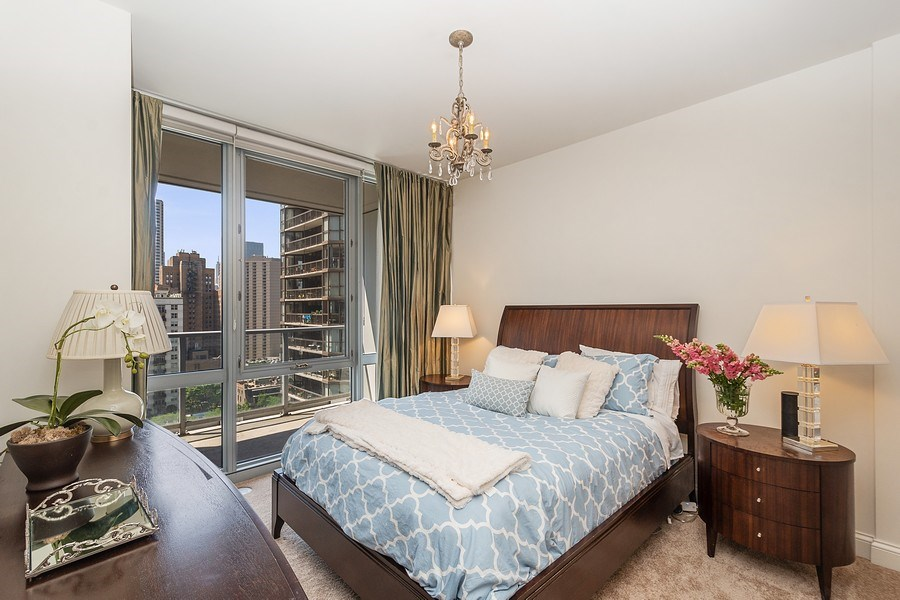 Real Estate Photography - 2 W. Delaware 1504, Chicago, IL, 60610 - Bedroom