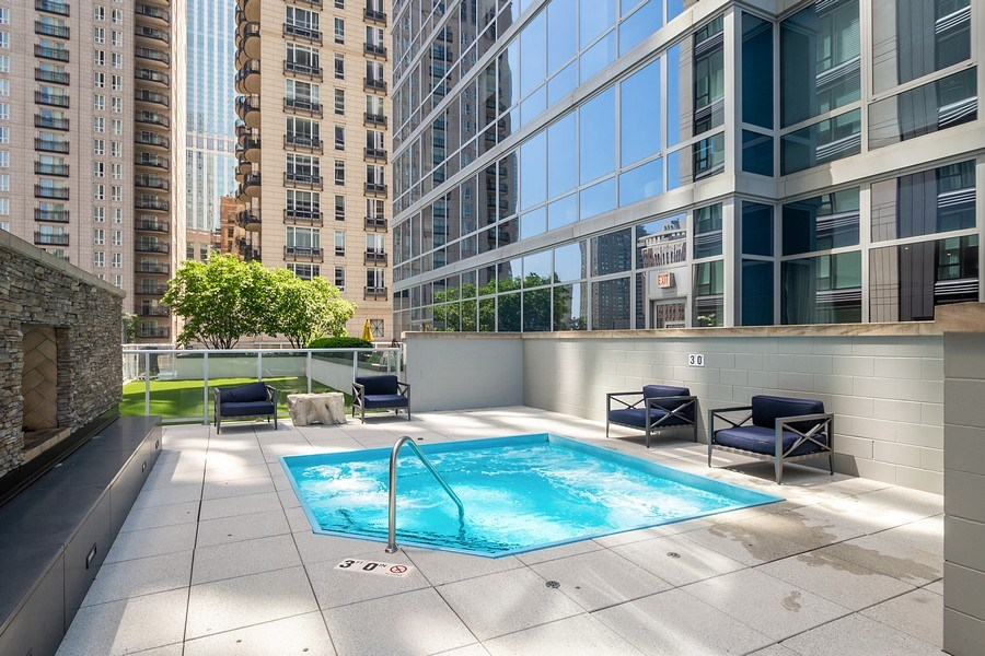 Real Estate Photography - 2 W. Delaware 1504, Chicago, IL, 60610 - Hot Tub and Dog Run