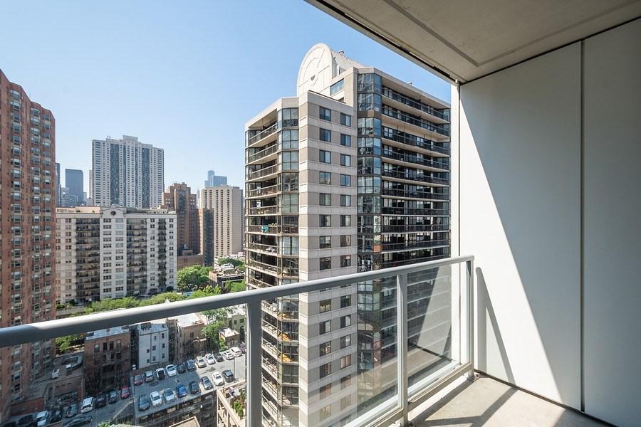 Real Estate Photography - 2 W. Delaware 1504, Chicago, IL, 60610 - Balcony