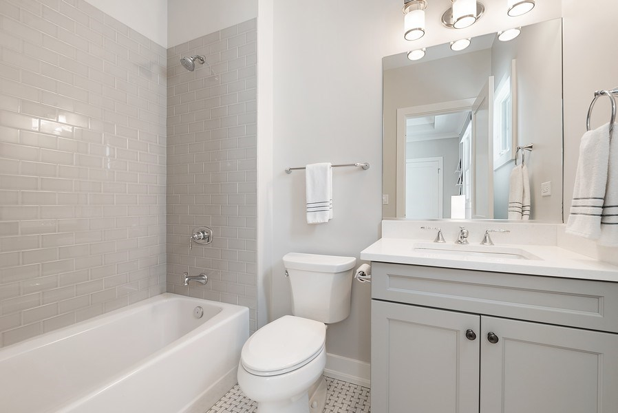 Real Estate Photography - 3932 N Bell Ave, Chicago, IL, 60618 - 4th Bathroom