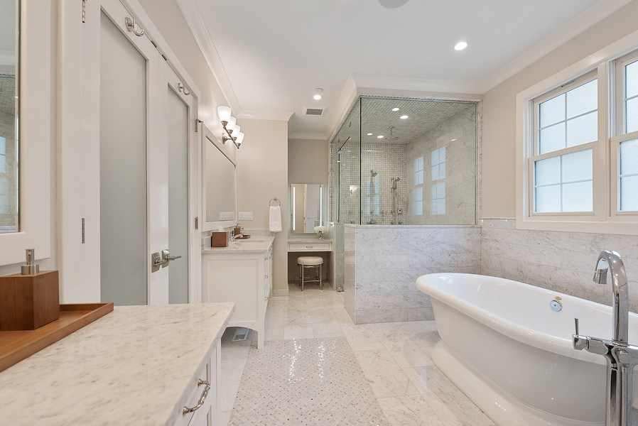 Real Estate Photography - 3932 N Bell Ave, Chicago, IL, 60618 - Master Bathroom