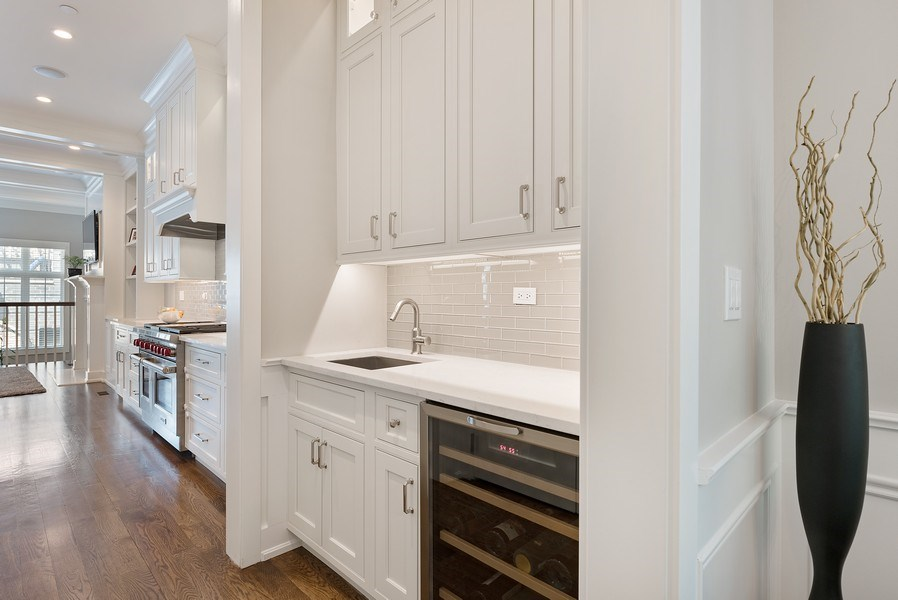 Real Estate Photography - 3932 N Bell Ave, Chicago, IL, 60618 - Butler's pantry