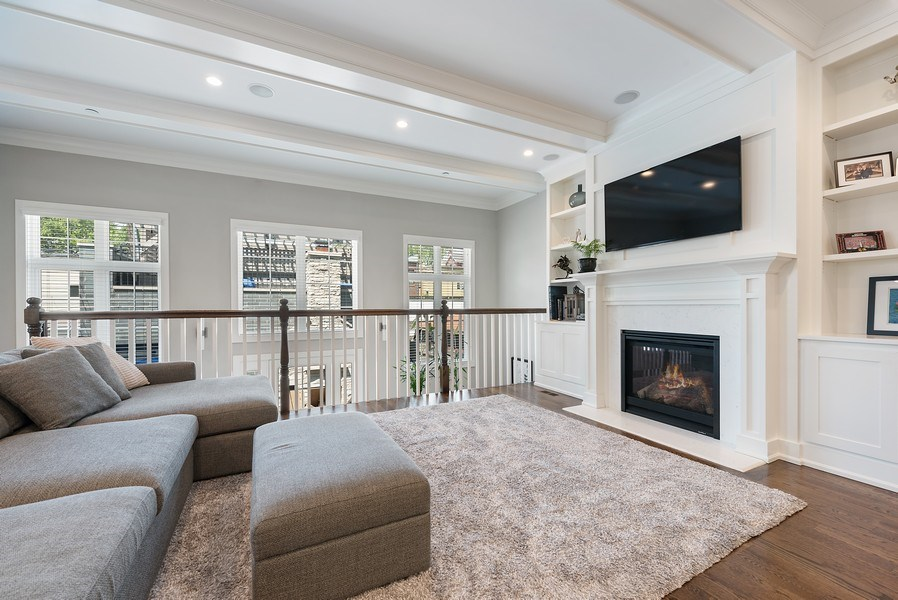 Real Estate Photography - 3932 N Bell Ave, Chicago, IL, 60618 - Family Room