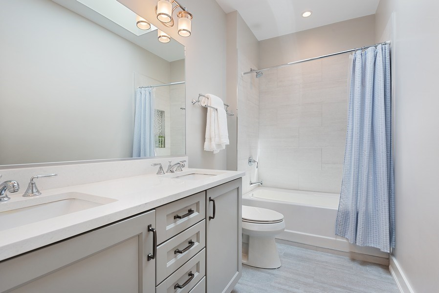 Real Estate Photography - 3932 N Bell Ave, Chicago, IL, 60618 - 2nd Bathroom