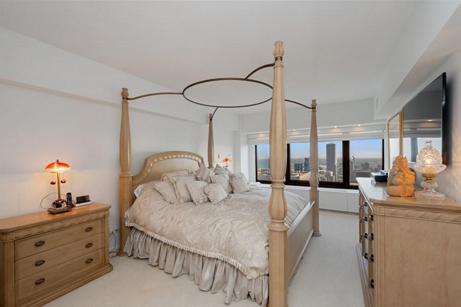 Real Estate Photography - 175 E DELAWARE PL, APT 7709-10, CHICAGO, IL, 60611 - Master Bedroom