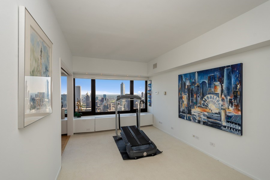 Real Estate Photography - 175 E DELAWARE PL, APT 7709-10, CHICAGO, IL, 60611 - 2nd Bedroom