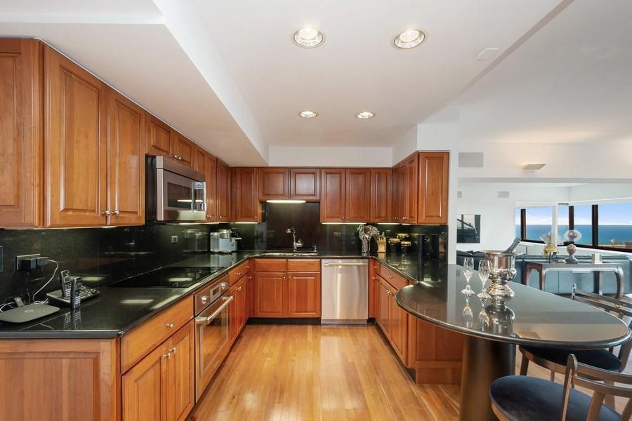Real Estate Photography - 175 E DELAWARE PL, APT 7709-10, CHICAGO, IL, 60611 - Kitchen