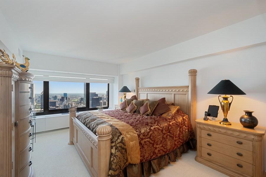 Real Estate Photography - 175 E DELAWARE PL, APT 7709-10, CHICAGO, IL, 60611 - Bedroom