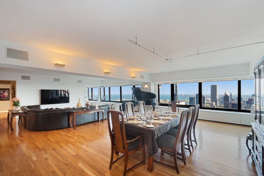 Real Estate Photography - 175 E DELAWARE PL, APT 7709-10, CHICAGO, IL, 60611 - Dining Room