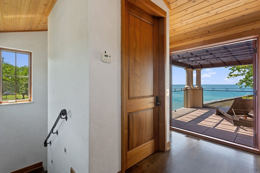 Real Estate Photography - 11001 Marquette Drive, New Buffalo, MI, 49117 - 3rd Level Landing Elevator and Terrace