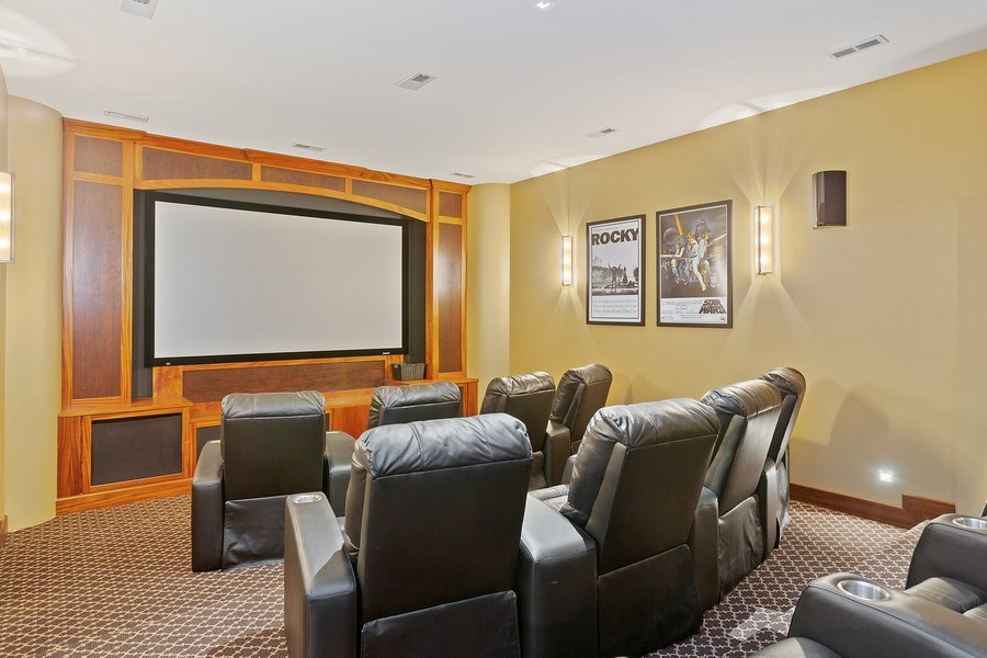 Real Estate Photography - 11001 Marquette Drive, New Buffalo, MI, 49117 - Home Theater