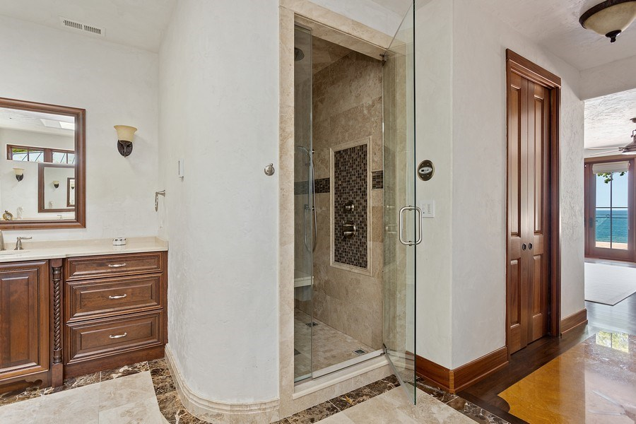 Real Estate Photography - 11001 Marquette Drive, New Buffalo, MI, 49117 - Master Bathroom