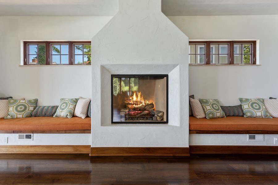 Real Estate Photography - 11001 Marquette Drive, New Buffalo, MI, 49117 - Fireplace Seating