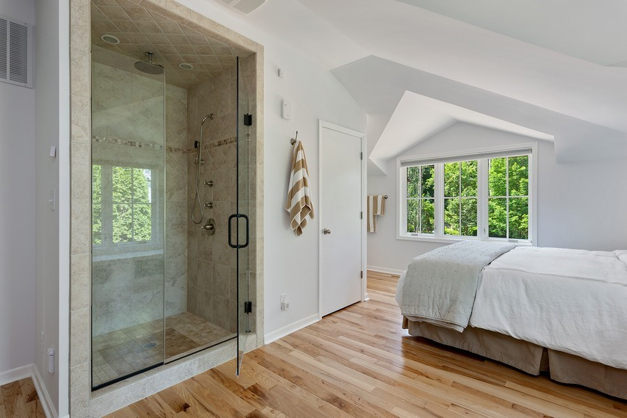 Real Estate Photography - 11001 Marquette Drive, New Buffalo, MI, 49117 - Coach House Guest Bedroom Shower