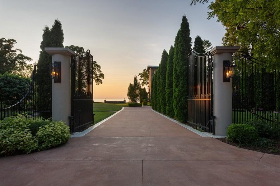 Real Estate Photography - 11001 Marquette Drive, New Buffalo, MI, 49117 - Main House Gates
