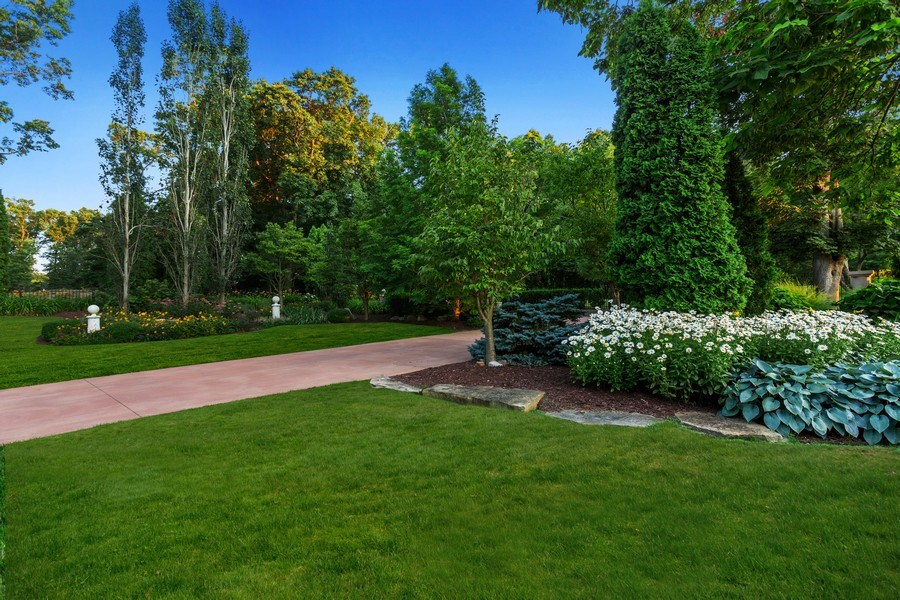 Real Estate Photography - 11001 Marquette Drive, New Buffalo, MI, 49117 - Garden at entry drive