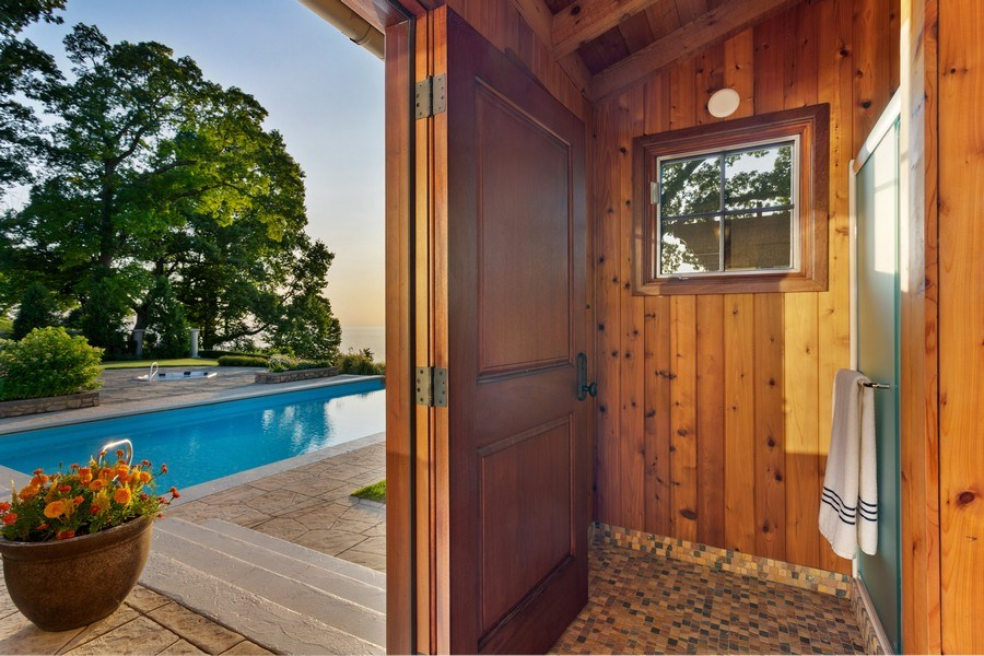 Real Estate Photography - 11001 Marquette Drive, New Buffalo, MI, 49117 - Poolside Full Bath