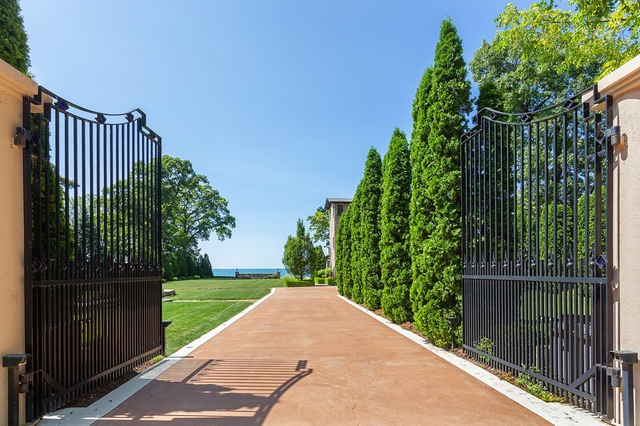 Real Estate Photography - 11001 Marquette Drive, New Buffalo, MI, 49117 - Main House Entry Gates