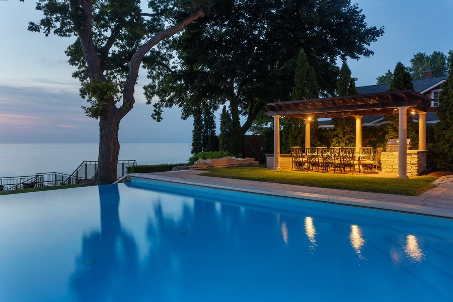 Real Estate Photography - 11001 Marquette Drive, New Buffalo, MI, 49117 - Poolside Dining
