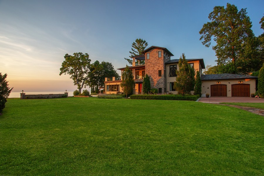 Real Estate Photography - 11001 Marquette Drive, New Buffalo, MI, 49117 - Main House to Lake Michigan
