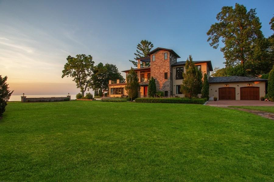 Real Estate Photography - 11001 Marquette Drive, New Buffalo, MI, 49117 - Main House to Lake Michigan