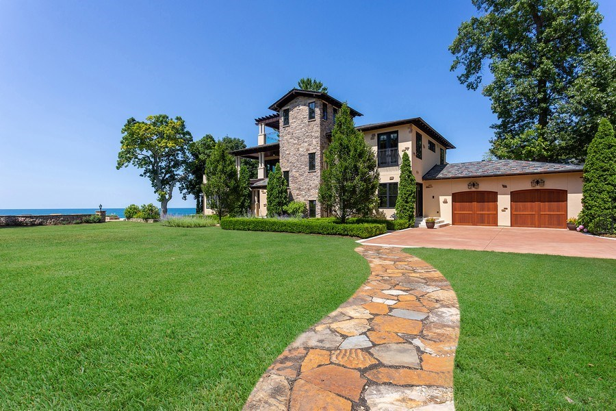 Real Estate Photography - 11001 Marquette Drive, New Buffalo, MI, 49117 - Front of House to lake