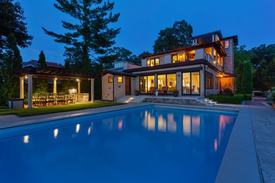 Real Estate Photography - 11001 Marquette Drive, New Buffalo, MI, 49117 - Pool to House