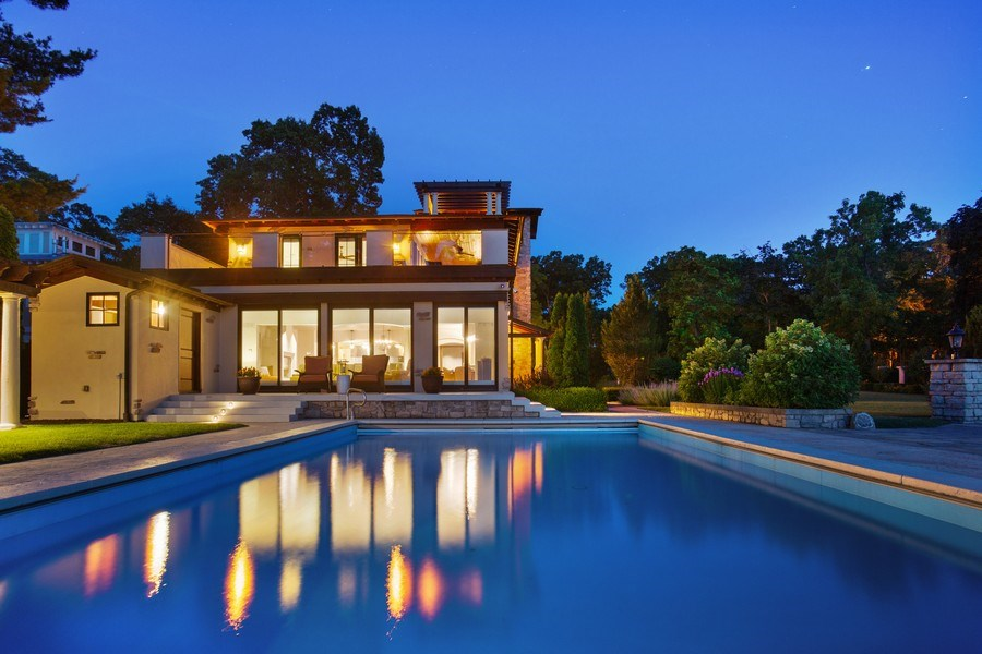 Real Estate Photography - 11001 Marquette Drive, New Buffalo, MI, 49117 - Rear View