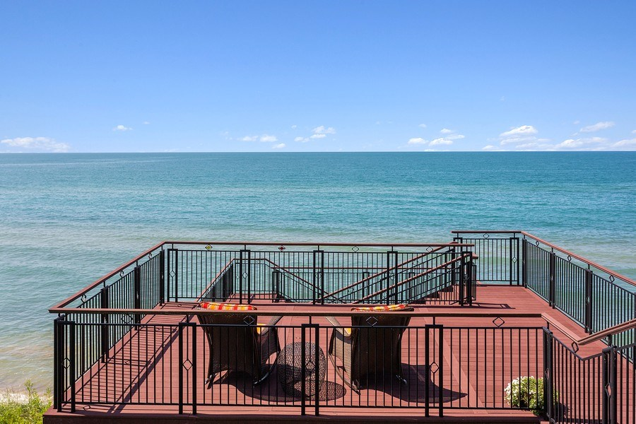 Real Estate Photography - 11001 Marquette Drive, New Buffalo, MI, 49117 - Upper Deck Lake Michigan