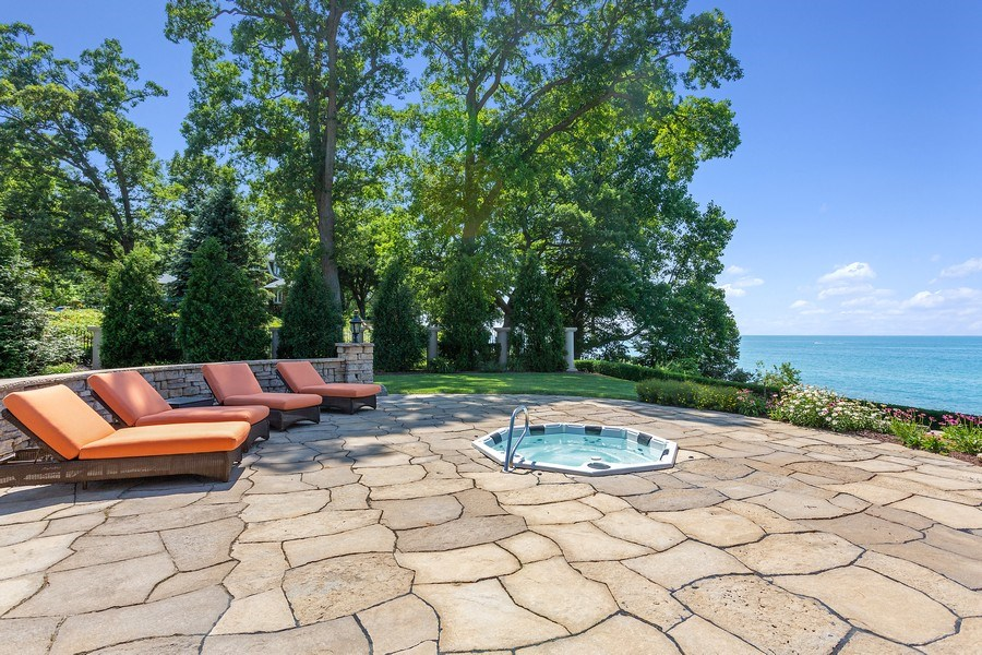 Real Estate Photography - 11001 Marquette Drive, New Buffalo, MI, 49117 - Patio and Hot tub