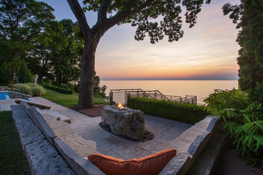 Real Estate Photography - 11001 Marquette Drive, New Buffalo, MI, 49117 - Outdoor Fire
