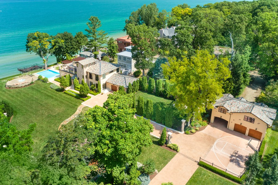 Real Estate Photography - 11001 Marquette Drive, New Buffalo, MI, 49117 - Aerial View Estate