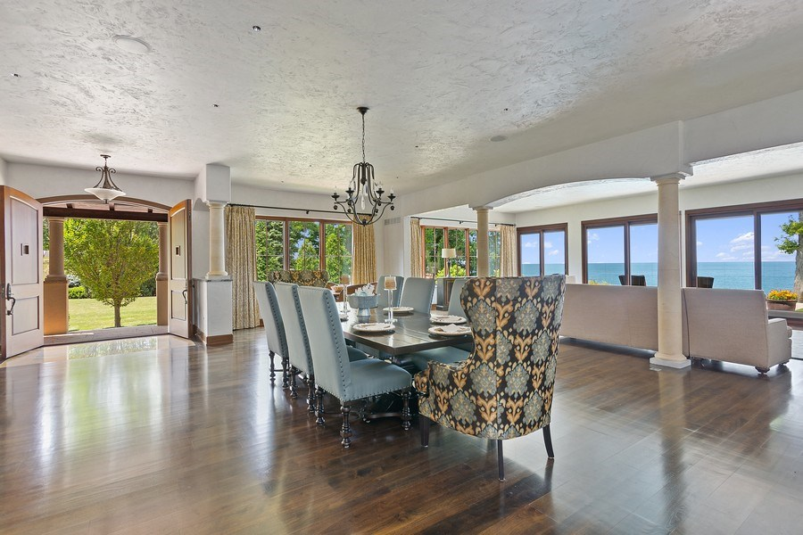 Real Estate Photography - 11001 Marquette Drive, New Buffalo, MI, 49117 - Dining Room to Living Room