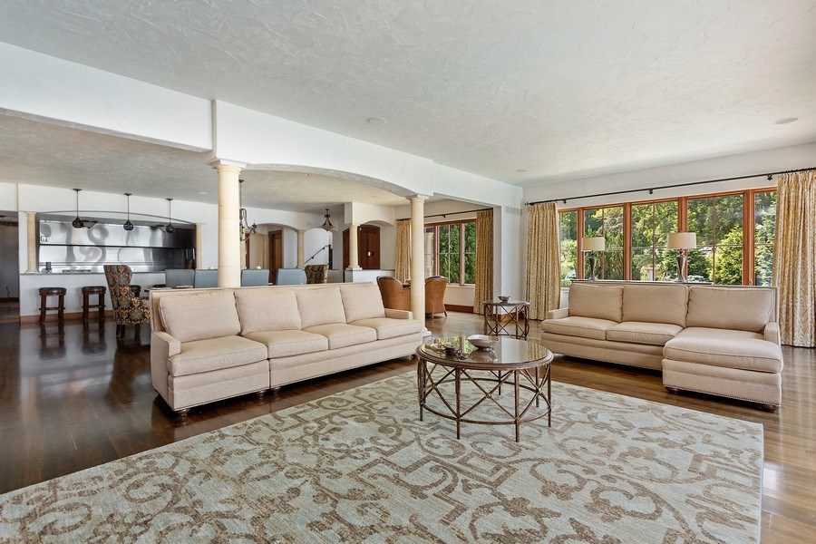 Real Estate Photography - 11001 Marquette Drive, New Buffalo, MI, 49117 - Living Room/Dining Room