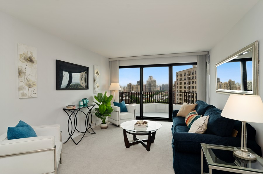 Real Estate Photography - 2020 N Lincoln Park West, Unit 14C, Chicago, IL, 60614 - Living Room