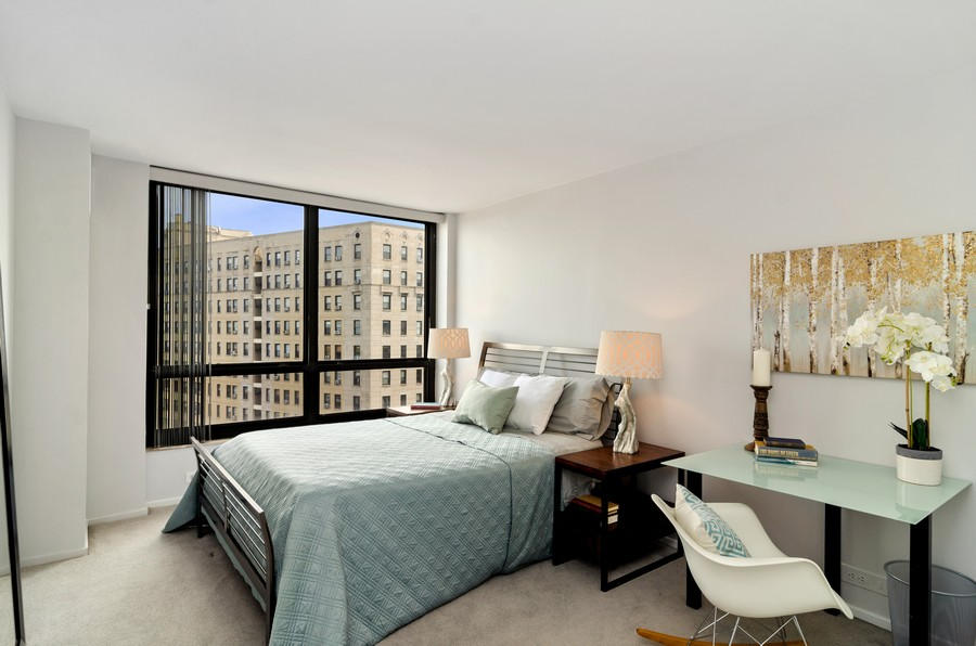 Real Estate Photography - 2020 N Lincoln Park West, Unit 14C, Chicago, IL, 60614 - Bedroom