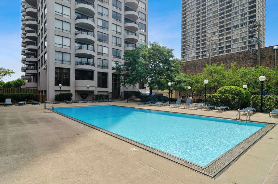 Real Estate Photography - 2020 N Lincoln Park West, Unit 14C, Chicago, IL, 60614 - Pool