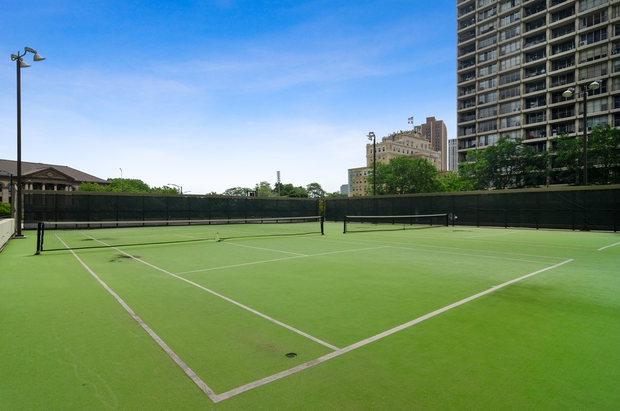 Real Estate Photography - 2020 N Lincoln Park West, Unit 14C, Chicago, IL, 60614 - Tennis Court