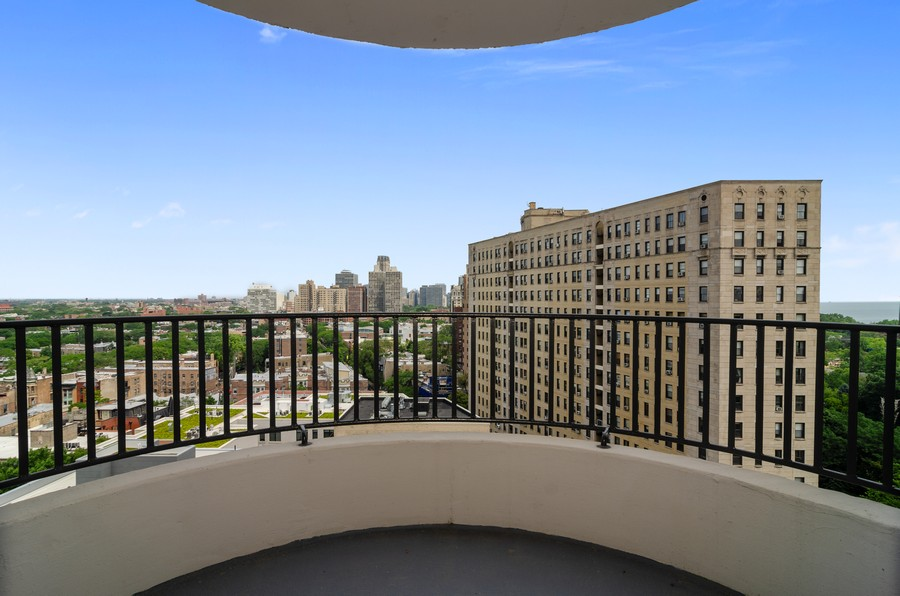 Real Estate Photography - 2020 N Lincoln Park West, Unit 14C, Chicago, IL, 60614 - Balcony