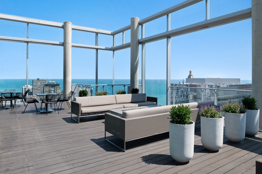 Real Estate Photography - 600 N. Fairbanks Ct., 2104, Chicago, IL, 60611 - Roof Deck