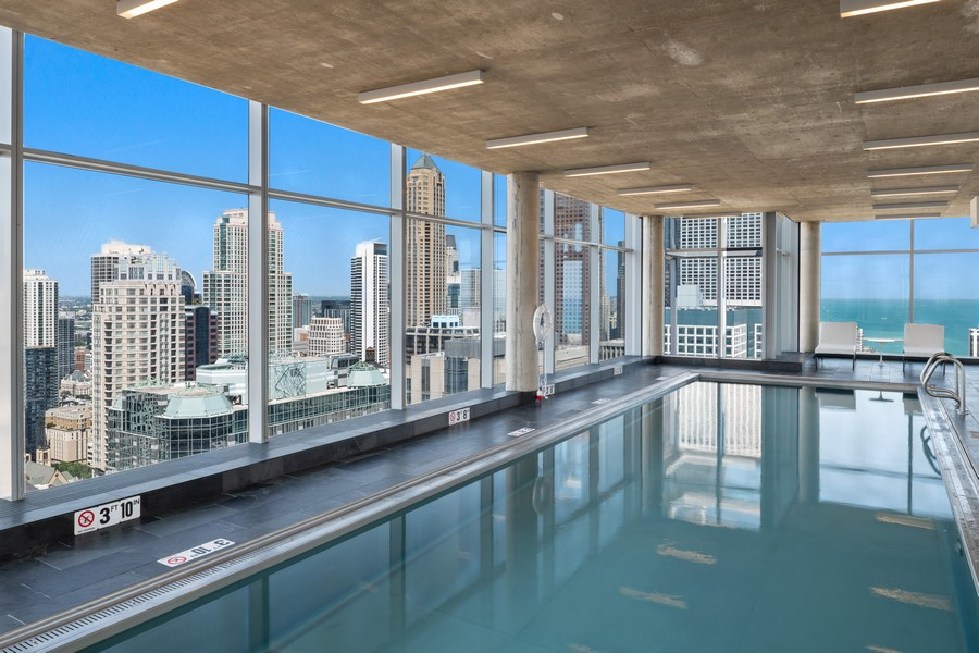 Real Estate Photography - 600 N. Fairbanks Ct., 2104, Chicago, IL, 60611 - Pool