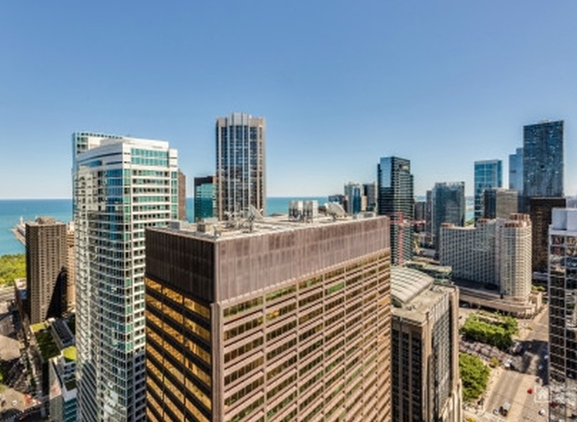 Real Estate Photography - 600 N. Fairbanks Ct., 2104, Chicago, IL, 60611 - View from Sundeck