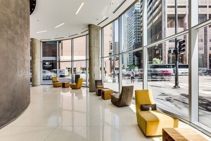 Real Estate Photography - 600 N. Fairbanks Ct., 2104, Chicago, IL, 60611 - Lobby